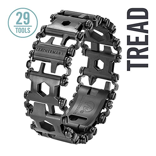 Leatherman - Tread Bracelet, The Travel Friendly Wearable Multitool, Black