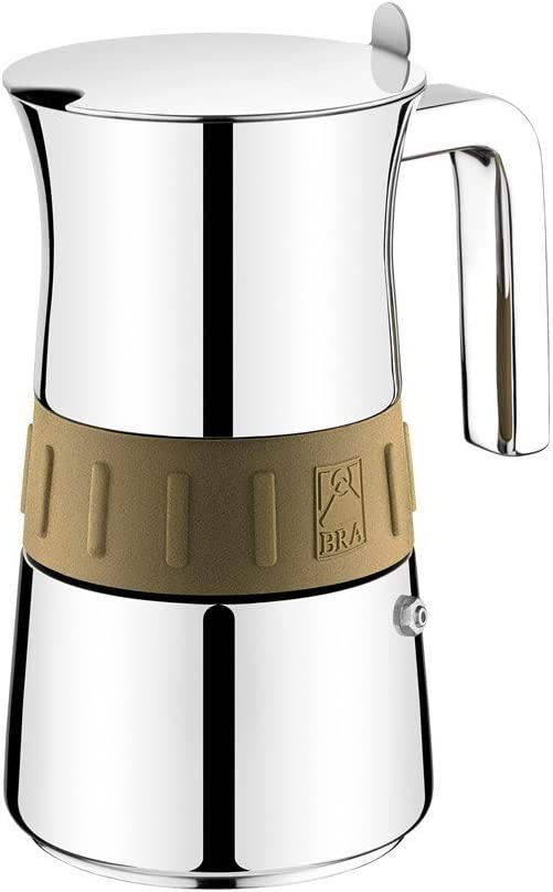 BRA Elegance Gold - Cafetera, Capacidad 10 Tazas, Acero Inoxidable ...