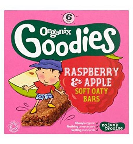 Organix Goodies Organic Raspberry & Apple Soft Oaty Bars 6 X 30G - Pack of 2 by Organix
