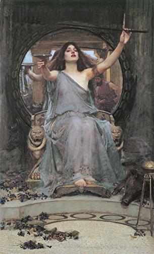 Giclee Art Matte (John William Waterhouse - Circe Offering Cup to Odysseus - Small - Matte - Unframed Vintage Wall Art Poster Picture Giclee Artwork Modern Contemporary & Fine Art Print)
