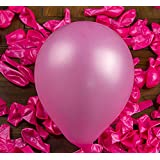 Aiernuo 100 pcs Pink Balloons 12 inch Thick Latex 6.34Oz/bag Balloons Plain Color Pink Pearlized