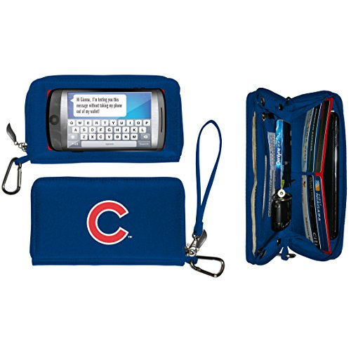 MLB Chicago Cubs Deluxe Cell Phone Wallet-Fits all phones