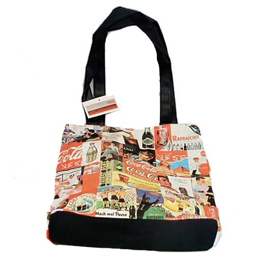 Collage Vinyl Coca-Cola Tote Bag