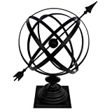 "Treasure Gurus Sundial Cast Iron 24"" Armillary"