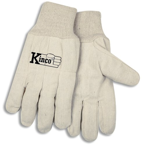 Leather Chore Glove (Kinco 035117080867 Canvas Chore Glove with Knit Wrist, X-Large, White, Single Pair)