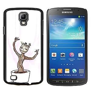 LECELL--Funda protectora / Cubierta / Piel For Samsung Galaxy S4 Active i9295 -- Feliz Divertido Bonsai --