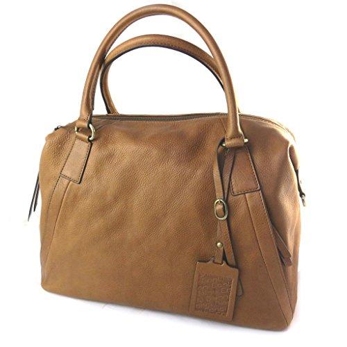 Bolsa de cuero 'Gianni Conti'coñac - 36x26x16 cm.