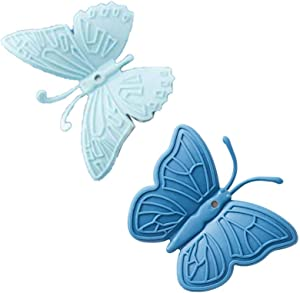 Butterfly Mini Silicone Oven Mitt, Refrigerator Magnets, Magnetic Heat Resistant Gloves for All Pot, Oven, Air Fryer, Pot Holders for Kitchen(Blue)