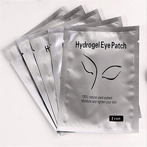 100 Pairs SetEye Gel Patches,Under Eye Pads Lint Free Lash Extension Eye Gel Patches for Eyelash Extension Eye Mask Beauty Tool