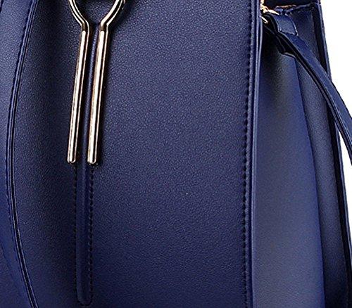 Colori Blu Shopping Borsa Buio Bag Vari Elegante Missfox Donna xRAT1fqw