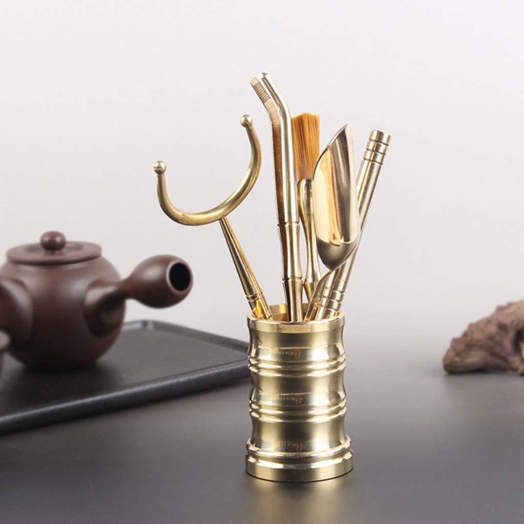 B Blesiya 6 Pieces Copper Tea Utensils Chinese Gongfu Tea Set Tools for Tea Ceremony by B Blesiya (Image #4)