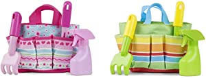 Melissa & Doug Sunny Patch Pretty Petals Gardening Tote Set with Tools & Giddy Buggy Gardening Tote Set