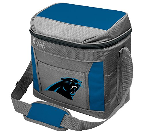 Rawlings NFL Soft-Sided Insulated Cooler Bag, 16-Can Capacity with Ice (Carolina Panthers Cooler Bag)