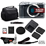 Canon EOS M6 Mirrorless Digital Camera (Body Only, Silver) 1725C001 Standard Bundle- International Version (No Warranty)