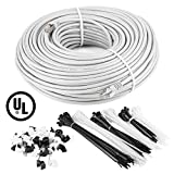 250 feet cat 6 cable - Maximm Cat6 Snagless Ethernet Cable - 250 Feet - White - Pure Copper - UL Listed - Cable Ties Included