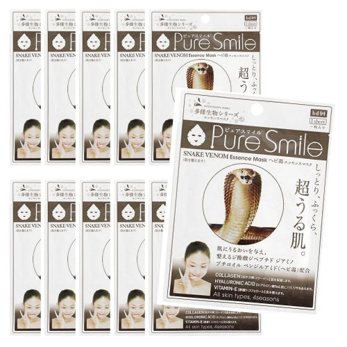 Pure Smile JAPAN Pure Smile snake venom face mask 10 pieces