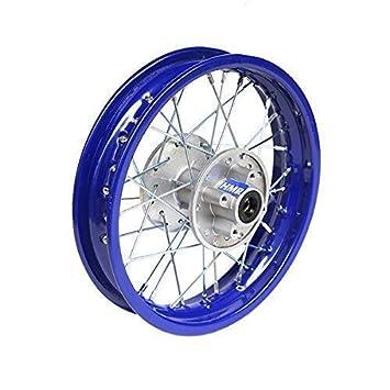 HMParts - Llanta de acero trasera para moto de cross, 1.85 x 12 pulgadas, color azul: Amazon.es: Coche y moto
