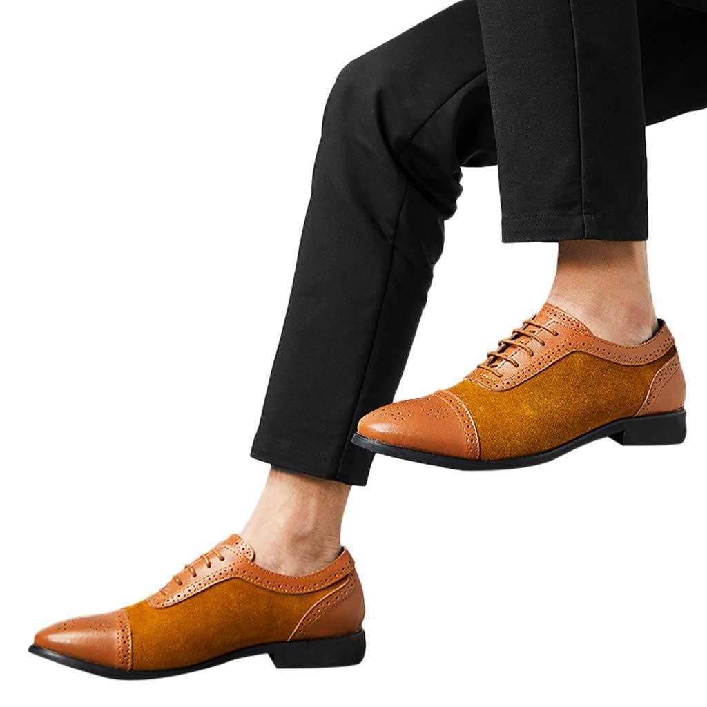 Sayla Zapatos Zapatillas para Hombres Casual Moda Verano Zapatos Puntiagudos Vestir Zapatos De Cuero C/óModos Y Ligeros Trabajo De Negocios Boda Gran Tama/ñO Estilo Brit/áNico
