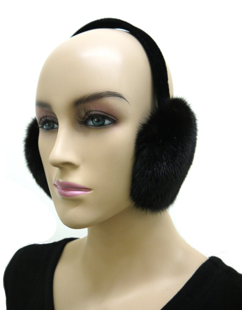 Ranch Mink Fur Earmuffs by Hima