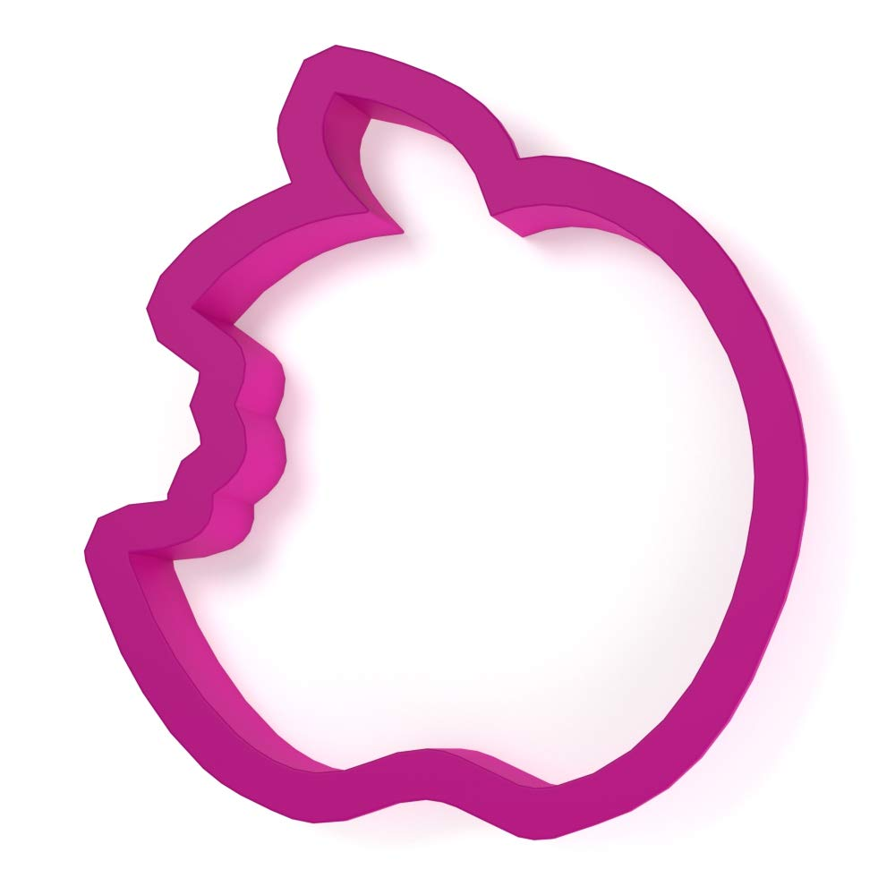 Bitten Apple Fruit Cookie Cutter - LARGE - 4 Inches