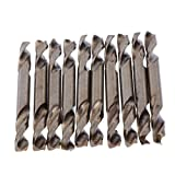 Baoblaze 10 PCS 4.2mm High Speed Steel Double Ended Drill Bits/HSS Twist Drill Bit, Sharp, Easy to Use