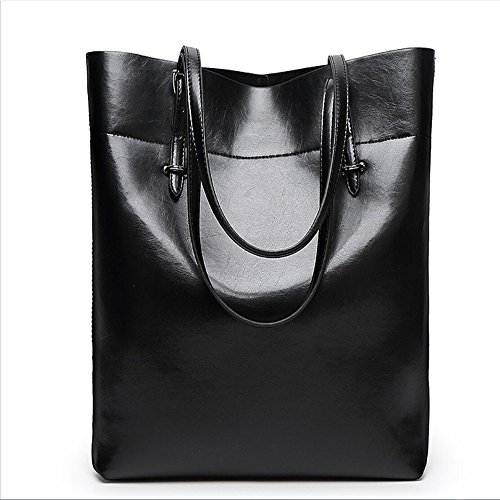 Bag Handbag Black Big Meaeo Capacity Brown Bucket Bag Shoulder Shoulder Bag 7qqP1Zw