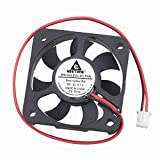 GDSTIME 12V DC Power 50mm x 50mm x 10mm 5CM Dual Ball Bearing Small Brushless Cooling Fan