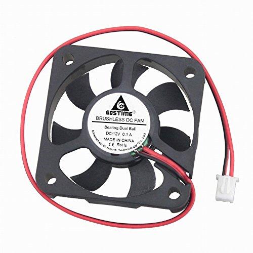 GDSTIME 12V DC Power 50mm x 50mm x 10mm 5CM Dual Ball Bearing Small Brushless Cooling Fan by GDSTIME
