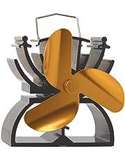 Thermo-elektrische ventilator voor open haard, 12,5 cm hoog, milieuvriendelijk, aandrijving door hitte.