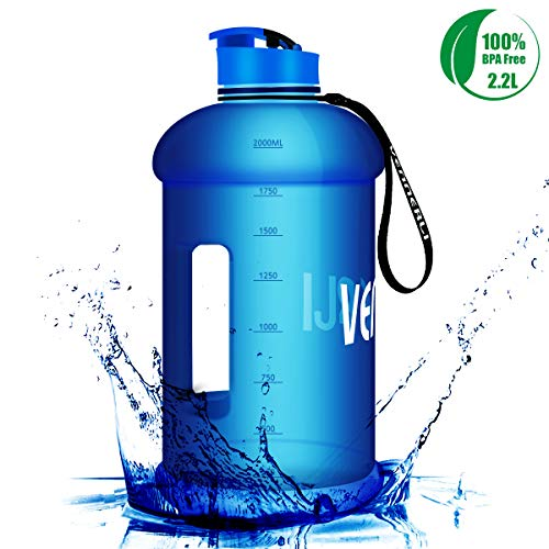 VENNERLI HalfGallonWater Bottle 73 oz Sport Water Jug 2.2L LeakProof BPAFree Hydro Bottle for Gym Yoga Travel Cycling Camping