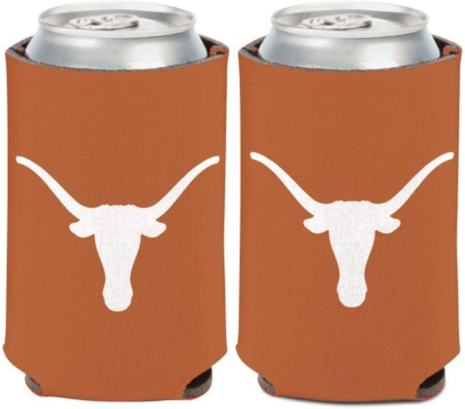 WinCraft NCAA University Texas Longhorns 1 Pack 12 oz 2-Sided Can Cooler
