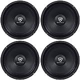 Rockville (4) RM84PRO 8 4 Ohm 1200 Watt SPL Midrange/Mid-Bass Car Speakers