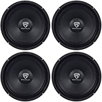 (4) Rockville RM84PRO 8 4 Ohm 1200 Watt SPL Midrange/Mid-Bass Car Speakers