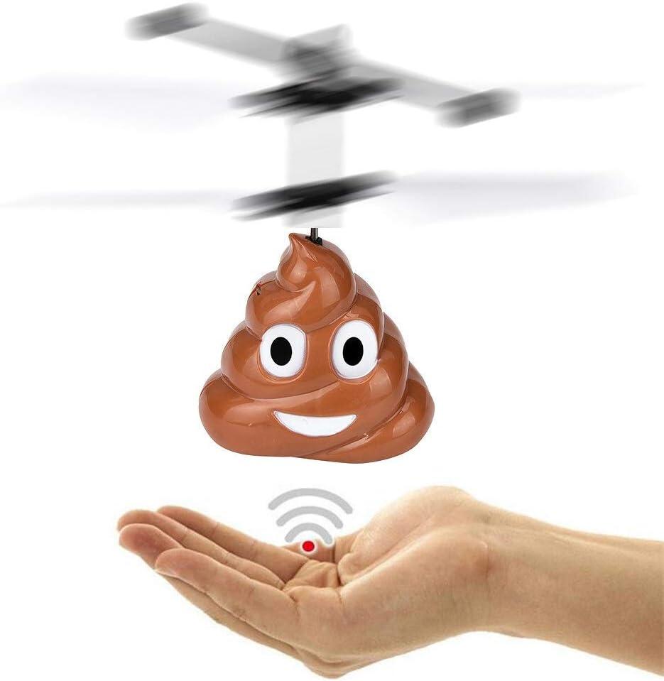 Prom-note El Impulso de la Mano del Vuelo de la Bola, helicóptero Niños Juguetes Infrarrojos RC inducción Avión Diversión Gadgets Mini Aviones no tripulados Juguetes voladores