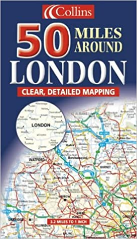 Map Around London.50 Miles Around London Map Amazon Co Uk 9780007126552 Books
