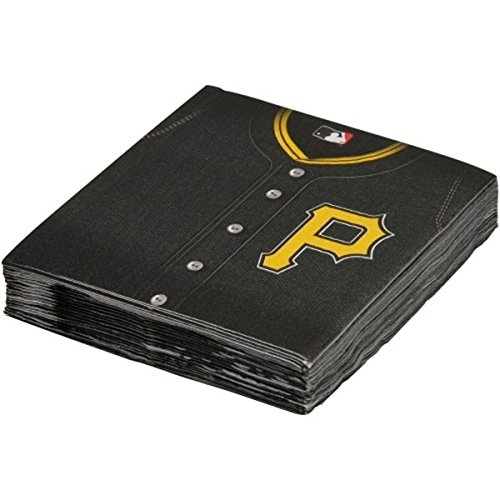 Sports and Tailgating MLB Party Pittsburgh Pirates Luncheon Napkins Tableware, Paper, 6'' x 6'', Pack of 36