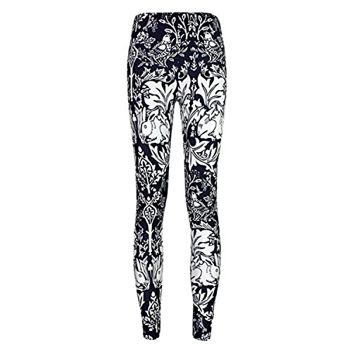 SSQueen Womens Footless Flower Leggings product image