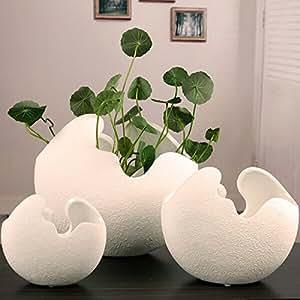 HUEVERA de cerámica, Creative carcasa con forma de escritorio macetas plantas en maceta.