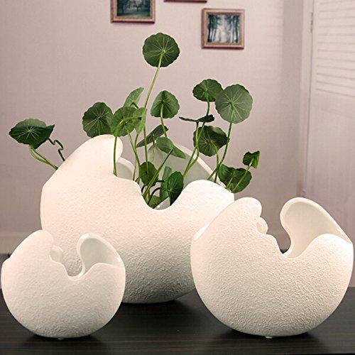 Creative Ceramic Egg Shell Shaped Desktop Flower Pots Potted Plants - Personalized Flower Pots