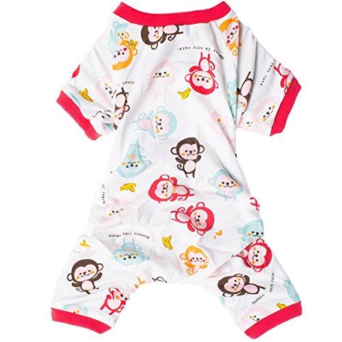 LovinPet Dog Clothes Adorable Monkey Dog Pajamas Soft Cotton Shirt Pet Clothes, (Red XL) (Please Read Description) by LovinPet