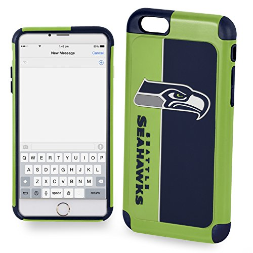 Forever Collectibles IPHNNFEXTPU6LSS Dual Hybrid Bold Series Case for iPhone 6 Plus/6S Plus,NFL Seattle Seahawks