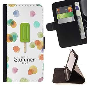 Dragon Case- Mappen-Kasten-Prima caja de la PU billetera de cuero con ranuras para tarjetas, efectivo Compartimiento desmontable y correa para la mu?eca FOR Sony Xperia Z1 M51W Z1 mini D5503- Summer Time