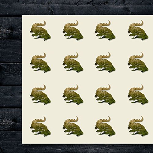 Alligator Jungle Animal Amazon Craft Stickers, 44 Stickers at 1.5 Inches, Great Shapes for Scrapbook, Party, Seals, DIY Projects, Item 9390 -
