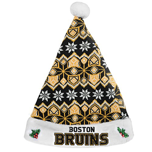 Boston Bruins Official NHL 2015 Knit Santa (Boston Bruins Santa Hat)