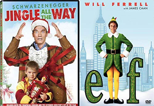 (All The Way Christmas 2-Movie Holiday Comedy DVD Jingle All The Way + Elf Fun Double Feature Bundle Modern Classics)