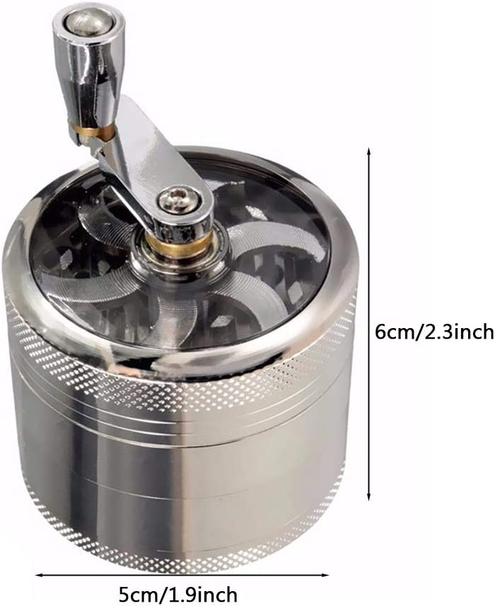 Aluminum Electric Metal Herb Tobacco Grinder Crusher Spice Muller Black Portable