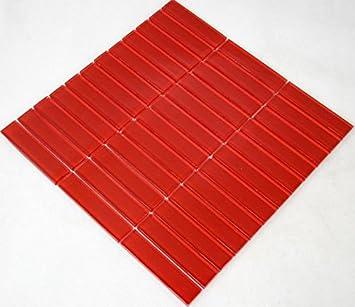 Restposten Fliesen Mosaik Mosaikfliesen Glasmosaik Rot Mm Neu HO - Restposten fliesen aussen