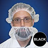 Beard Nets, Nylon Honeycomb, Black, 1000/Case