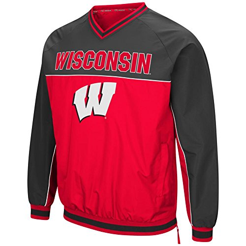 (University of Wisconsin Badgers Windbreaker Jacket Coach Klein Pullover (Medium))