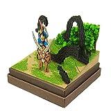 Sankei Studio Ghibli mini Princess Mononoke ashitaka and Tatari God scale papercraft MP07-41